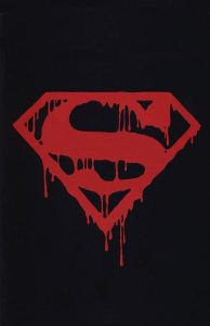 You see, it's the Superman symbol, but bloody.