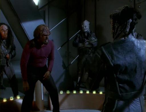Worf in combat ring
