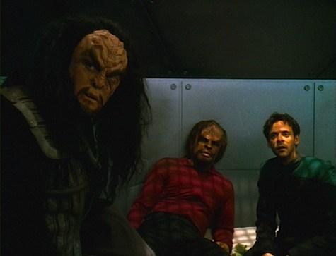 Martok, Worf, and Bashir